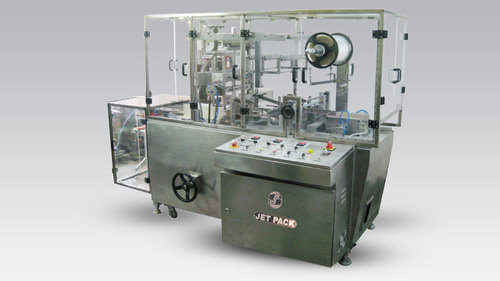 Automatic Carton Collate And Over Wrapping Machine