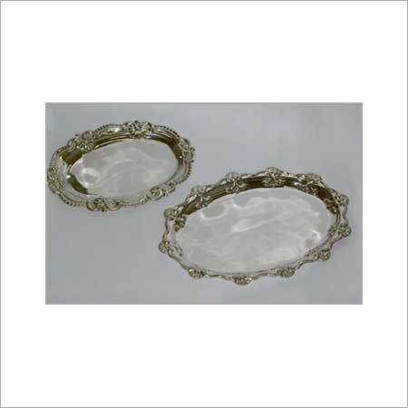 Silver Round Trays