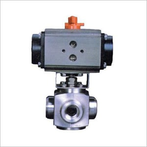 3 Way Ball Valve Screwed End With Actuator