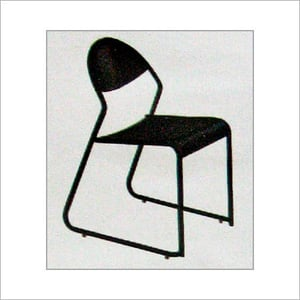 Black Color Perforated Chair