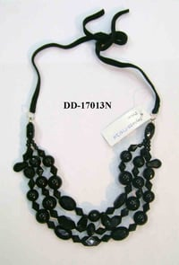 Black Color Beaded Necklaces
