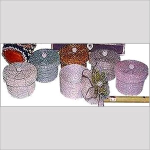 Floral Beaded Trinket Boxes