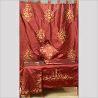Embroidered Curtains With Matching Table Cover