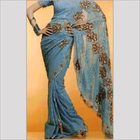Womens Fancy Embroidered Sarees