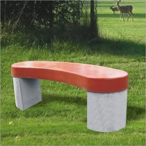 Designer Stone Curved Benches