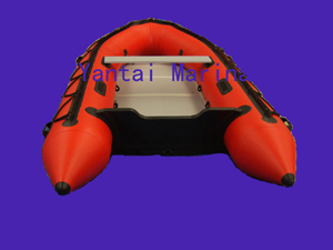 Red Colored Inflatable Boat