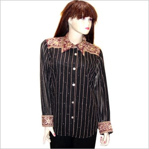 Full Sleeve Ladies Embroidered Shirts