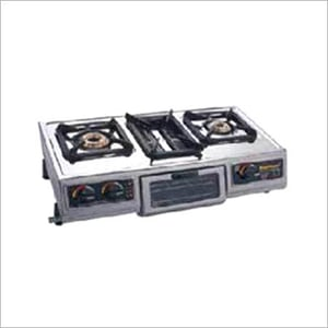 2 High Tech Burners With One Grill Burner