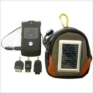 Solar Mobile Charger With Waist Bag