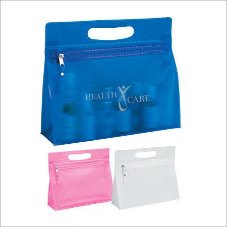 PVC Tote Handle Plastic Zipper Bag