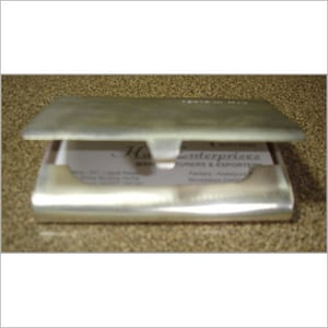 Brass Silver Plated Business Card Box