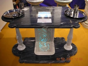 Black and White Marble Dinning Table