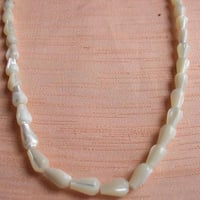 Fashionable White Shell Beads Necklace