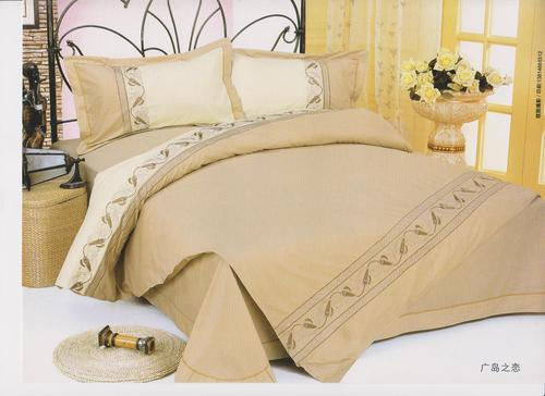 Cotton Plain Embroidery Bed Sheet Set