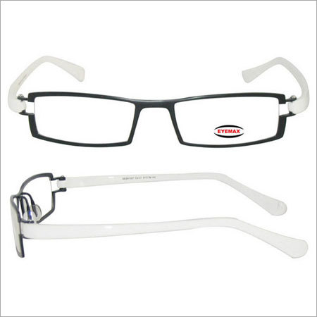 Fancy White Eyeglass Frame