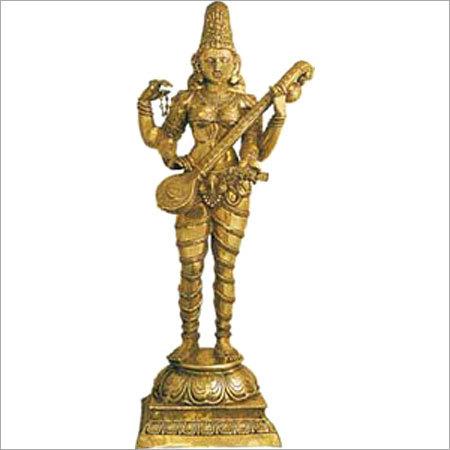 Brass Goddess Saraswati Statue