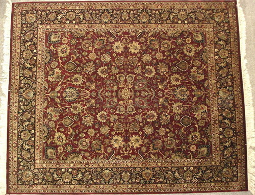 Dark Red Hand Knotted Carpet
