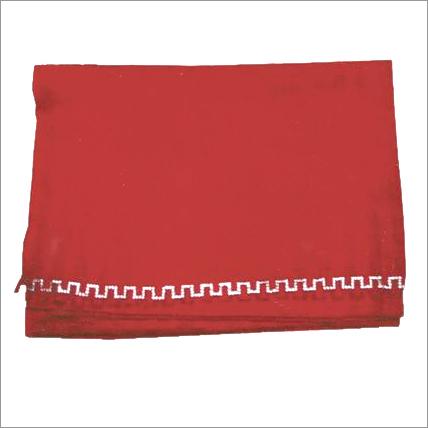 Plain Red Silk Pashmina Shawl