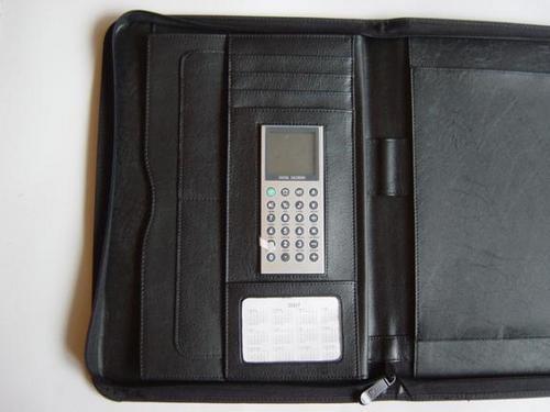 Genuine Black Leather Folder