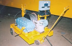 Portable Gas Powered Capstan Winch
