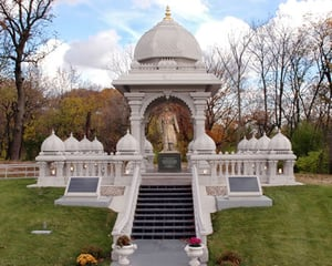White Stone Made Temple