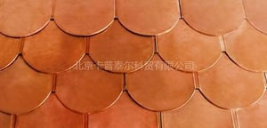 Fish Scale Copper Roofing Tile