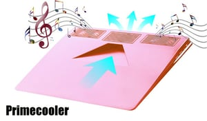 Pink USB Laptop Cooler Pad with 2.0 Stereo Speaker
