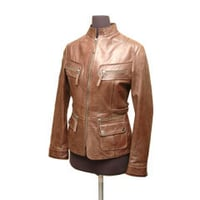 Womens Winter Leather Jacket