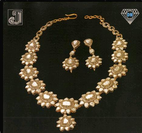 Diamond Studded Necklace Set Very Good