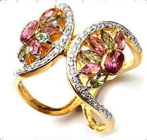 Designer Fancy Gold Ring Gender: Women'S