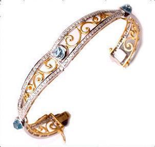 Fashion Designer Yellow Gold Bracelet
