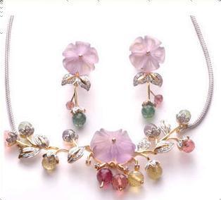 Diamond Studded Necklace Set Good