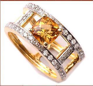 Multicolour Designer Diamond Ring Fair