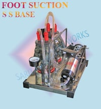 SS Base Foot Suction Twin Bottle