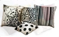 Black and White Cushion Covers