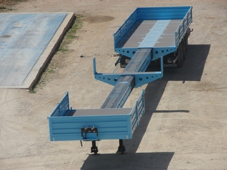 Flatbed Trolley with Container Lock 60Ton