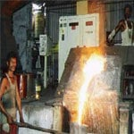 Double Track Metal Melting Furnace