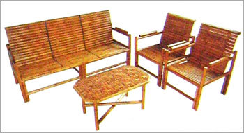 BAMBOO CHAIR SET WITH CENTER TABLE