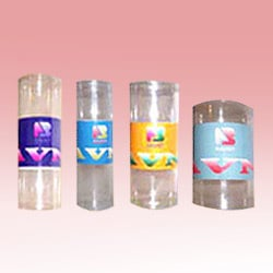 Transparent Cylindrical Boxes
