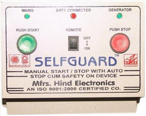 Manual Start / Stop With Auto Stop Cum Safety On Device