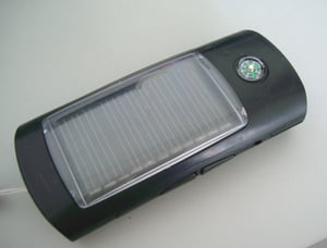 Solar Torch With FM Radio And Compass