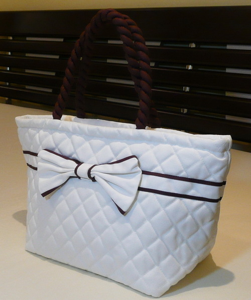 Designer Ladies Cotton Satin Handbag