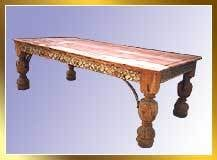 Wooden Hand Carved Dining Table