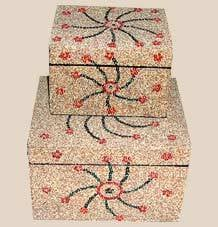 Beaded Wooden Jewelry Boxes