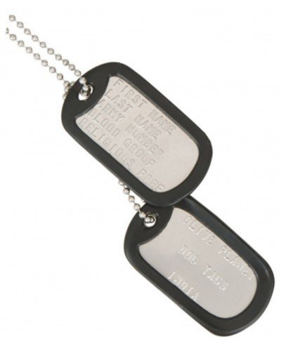 Metal Military Dog Tags For Identification