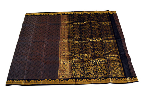 Silk Emboss Jari Border Saree
