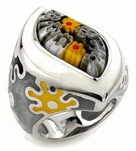 Sterling Silver Venetian Murano Glass Rings