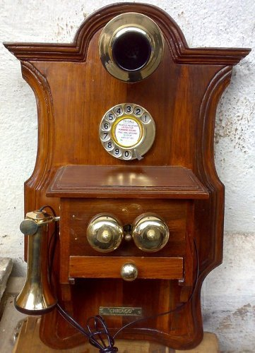 Wooden Wall Hanging Telephone