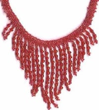 GLASS & SEAD BEADED NECKLACE