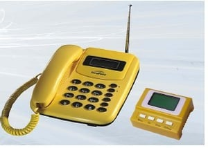 Yellow Color GSM Pay Phone